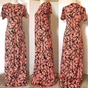 Lularoe Marie maxi dress, Sz XXS, floral
